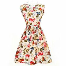 Markenlose Mini-Damenkleider im Boho -/Hippie-Stil mit Rundhals-Ausschnitt