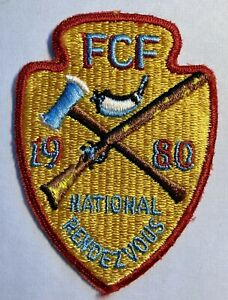 1980 ROYAL RANGERS FCF National Rendezvous Patch Partially Embroidered