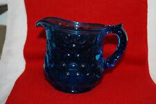 Vintage Cobalt Blue Bubble Glass Pitcher