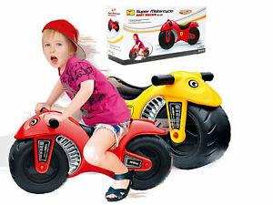 Toddler Kids Motorbike Balance Bike Motorcycle Push Along Ride On Walker Glide
