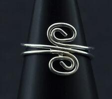 Bague de pied -bijoux d' orteil ethnika Daya ajustable en metal blanc  W93 6340