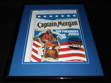 2004 Captain Morgan for President 11x14 Framed ORIGINAL Advertisement