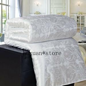 New Natural Mulberry Silk Comforter Duvet Hand-made Quilt jacquard Bedding Fille