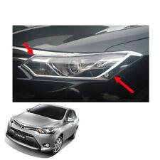 For Toyota Vios Belta Yaris Sedan 13 14 16 17 Head Lamp Light Cover Chrome Trim
