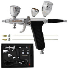 3 Tips 3 Cups PRO G79 All-Purpose Gravity Dual-Action Spray Gun Trigger Airbrush