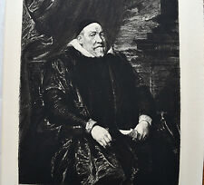 JORDAENS Portrait de Vieillard  Eau Forte WALTNER 1846 1925