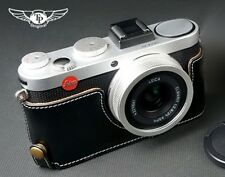 Genuine real Leather Half Camera Case bag cover for Leica X-E Typ 102 X2 X1 B