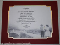"""""""Together"""" Personalized LOVE Poem Gift, PERFECT Valentine's Day Gift for Her/Him"""