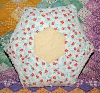 Accent Pillow From Vintage 1930s Six Point Star Farmhouse Feedsack Quilt FSS-02