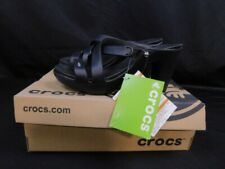 Crocs Cyprus IV Heels Womens Size 8 BLACK NEW