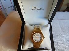 "Daniel Steiger 36mm Women's ""Broadway Gold"" 18K Fused Gold Stainless Steel Watch"