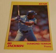 1990 Star Co. BO JACKSON Diamond Terror Promo card - Kansas City Royals