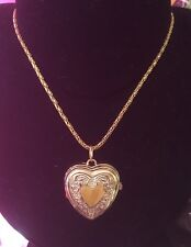 Heart Shaped Watch Necklace Gold Coloured With Yellow