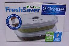 FRESHSAVER 2 VACUUM STORAGE CONTAINERS 1/2 QUART SIZE FOOD SAVER FOODSAVER