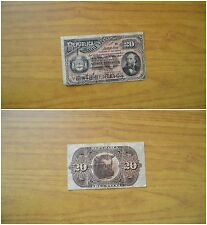 BANCONOTA REPUBBLICA ARGENTINA 20 CENTAVOS 1883 BUENOS AIRES SUBALPINA