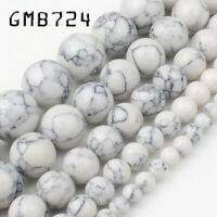 4/6/8/10mm Second Generation White Howlite Stone for Jewelry Making Round beads