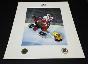LOONEY TUNES ' TWEETY BIRD & SYLVESTER THE CAT ' LTD EDITION NHL LITHO AVALANCHE