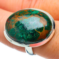 Large Chrysocolla 925 Sterling Silver Ring Size 8.5 Ana Co Jewelry R34385F