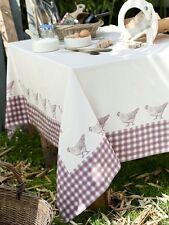 Nappe tissu carré 180x180 cm vichy poule