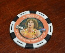RARE TOPPS POKER CHIP 2005 - 06 WHITE CHIP ANDERSON VAREJAO CLEVELAND CAVALIERS