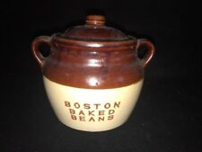 Vintage Boston Baked Beans Monmouth Western Maple Leaf Two Handle Crock