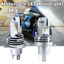2x NEW H4 LED Motorcycle Headlight Bulb 55W DRL Hi/Lo Beam Driving Light 6000LM