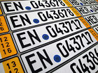 German License Plate - Temporary Yellow - Premium with Seal