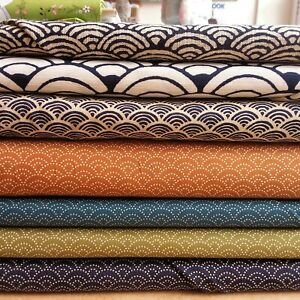 """Japanese Cotton Fabric with Wave design, Sevenberry 100% cotton 44"""" wide"""