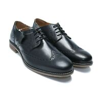 Men's Leather Shoes, Formal Dress Derby Lace Up w/ Contrasting seam (AU/UK Size)
