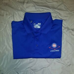 Under Armour Chicago Cubs Short Sleeve Polo Mens M