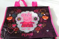 Peppa Pig Tasche Damen Mädchen Einkaufstasche Kinder lila pink Shopper Polyester