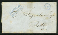 1848 Troy New York Steam Boat 7cts Stampless Cover 8A13 50