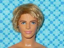 Barbie Mattel ROOTED SANDY BLONDE HAIR KEN DOLL Nude Naked for OOAK Custom