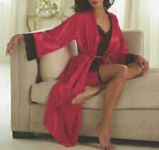 NEW WOMENS MIDNIGHT VELVET BLACK & RED LACE CHEMISE ROBE SIZE PLUS SIZE 2X