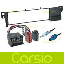 BMW 3 Series E46 Surround Car CD Stereo Radio Fitting Kit Wiring ISO Aerial