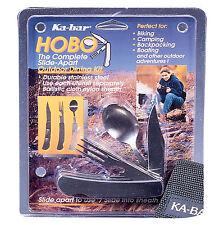 Ka-Bar Knives Hobo Outdoor Dining Kit Fork Spoon Folding Camp Knife 1301 Sheath