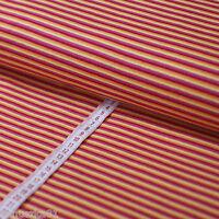 Ringeljersey Streifen Jersey Stoff Gelb Rot Pink Orange - Jersey Stoffe