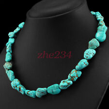 FINEST  CTS NATURAL UNTREATED TURQUOISE BEADS NECKLACE - LOWEST PRICE