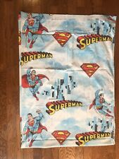 Superman Man of Steel VINTAGE Twin fitted sheet 1978 Cutter Fabric DC Comics