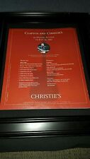 Eric Clapton Christies Auction Rare Original Promo Poster Ad Framed!