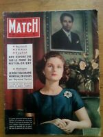 PARIS MATCH N°485 - 1958 PRINCESSE FAZILET ROI FAICAL IRAK