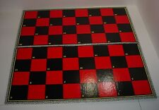 """Vintage NOS 15"""" Black & Red Checkerboard Tic Tat Toe 1950's Made in USA Folding"""