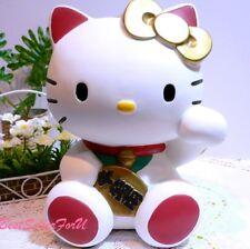 Hello Kitty Maneki Neko Coin Bank Pippy Lucky Beckoning Fortune Money Cat White