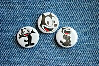 "Felix the Cat cartoon Buttons Pins Badge 1"" pinback wonderful Cat"