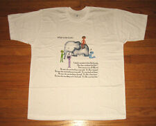 BLIND MEN and an ELEPHANT, Men's Size 3XL White Tee, What is the TRUTH? NWT