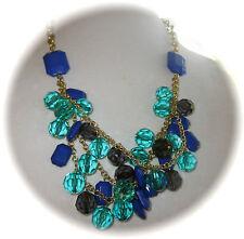 Kate Spade Necklace VINTAGE blue aqua faceted beads baubles charm