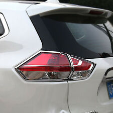 Chrome Tail Rear Light Lamp Cover Trim for 2014-2016 Nissan X-Trail Rogue 2015