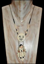 FAB VINTAGE BUTLER AND WILSON GALALITH PIERROT ON A SWING PENDANT NECKLACE