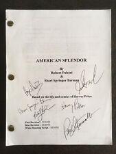 American Splendor Movie Shooting Script 2001 Signed Harvey Pekar Paul Giamatti
