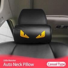 1x Car Seat Head Neck Rest Soft Foam PU Pillow Leather Cushion Pad HeadRest